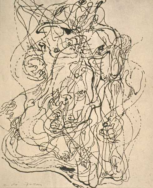 ANDRÉ MASSON (1896-1987) Automatic Drawing, 1938 (Pen on Paper)