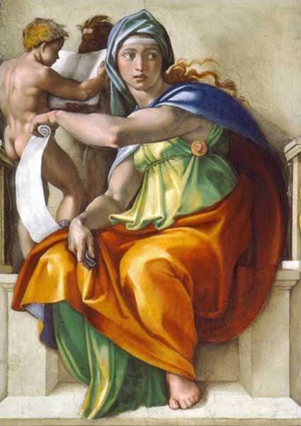 Delphic Sibyl From The Sistine Chapel Ceiling 1508 12 Fresco