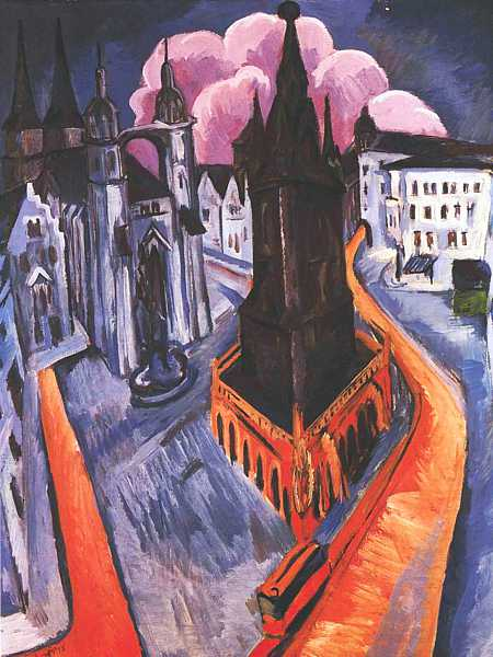 ERNST LUDWIG KIRCHNER (1880 1938) U0027The Red Tower At Halleu0027,