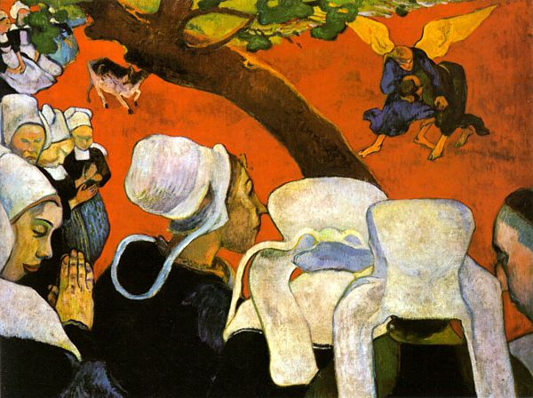 Red Paul Gauguin 1848 1903 Vision After The Sermon 1888