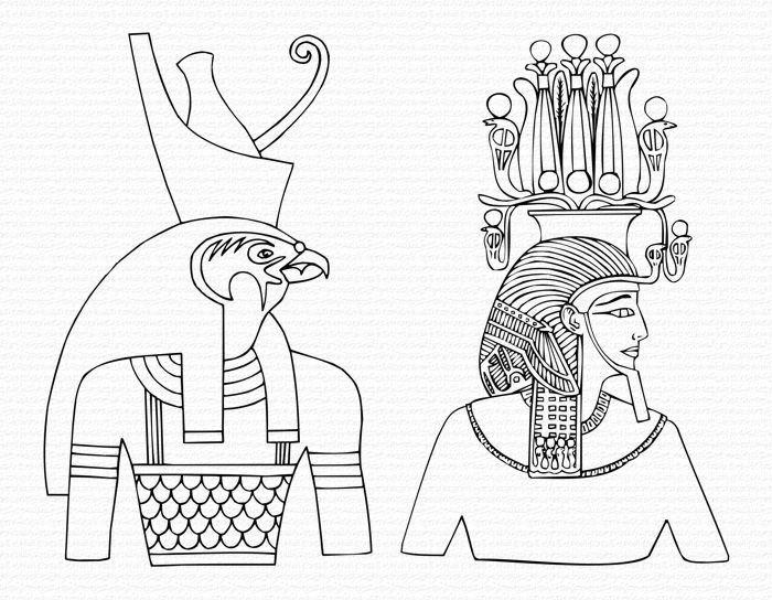 http://www.artyfactory.com/egyptian_art/egyptian_art_lesson/images/gods-crowns.jpg