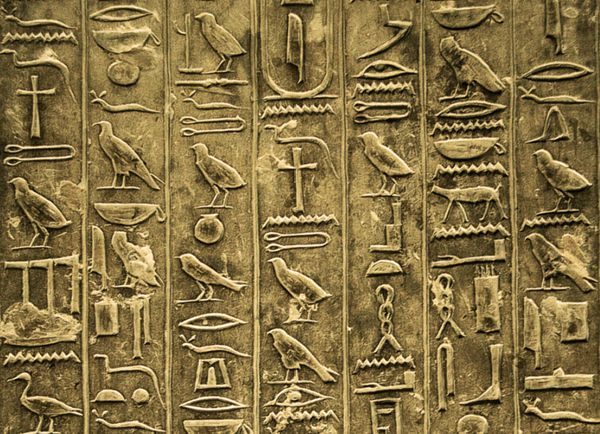Ancient Egyptian Hieroglyphics Alphabet