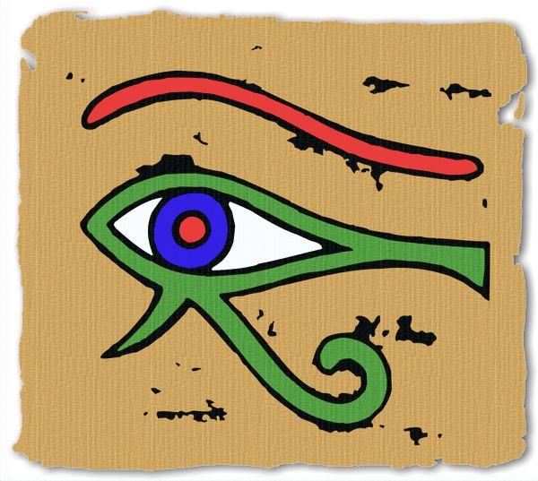 Ancient Egyptian Hieroglyphics Ankh Scarab And Wedjat