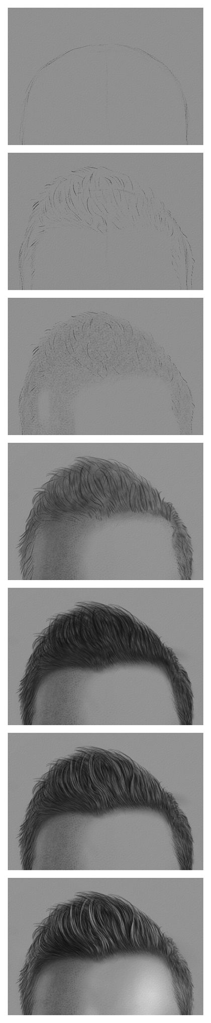 Drawing The Hair With Charcoal And Chalk €� Steps 17