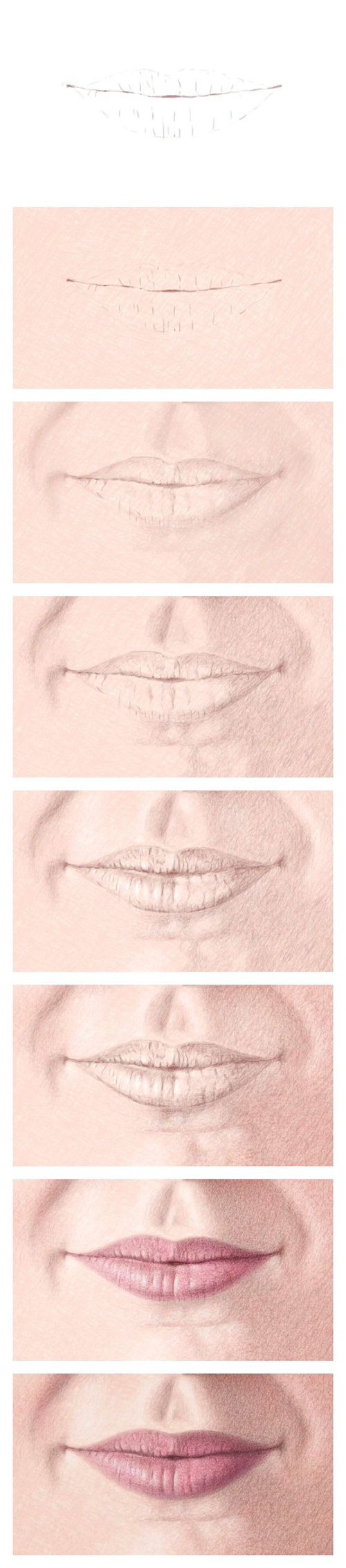 Color Pencil Portraits - How to Draw the Mouth