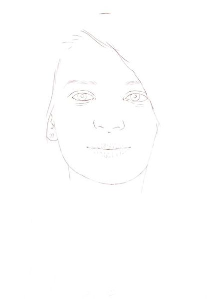 Color Pencil Portraits Starting With A Line Drawing