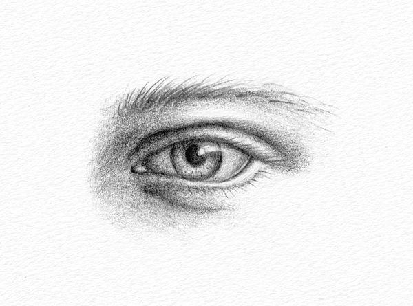Pencil Portraits - How to Draw an Eye