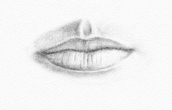 Como desenhar uma boca - Etapa 2