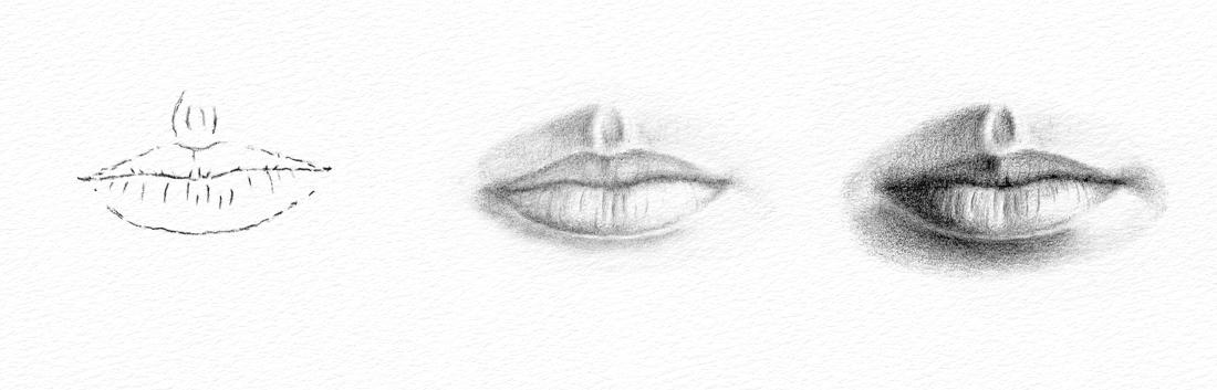 Pencil Portrait Drawing How To Draw A Mouth