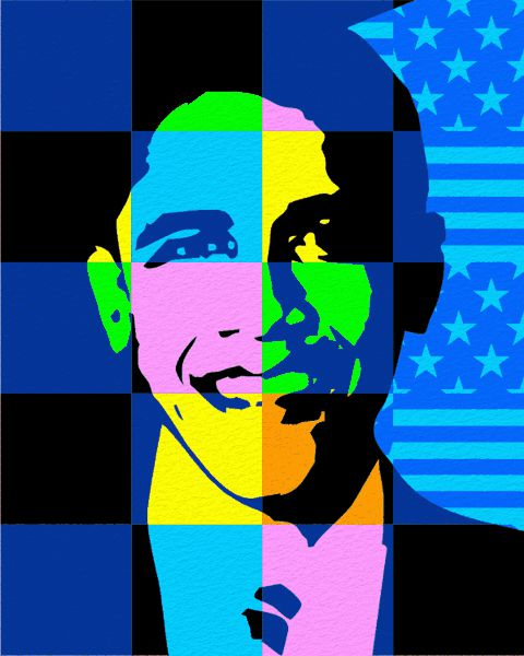 Pop Art Portrait Barack Obama
