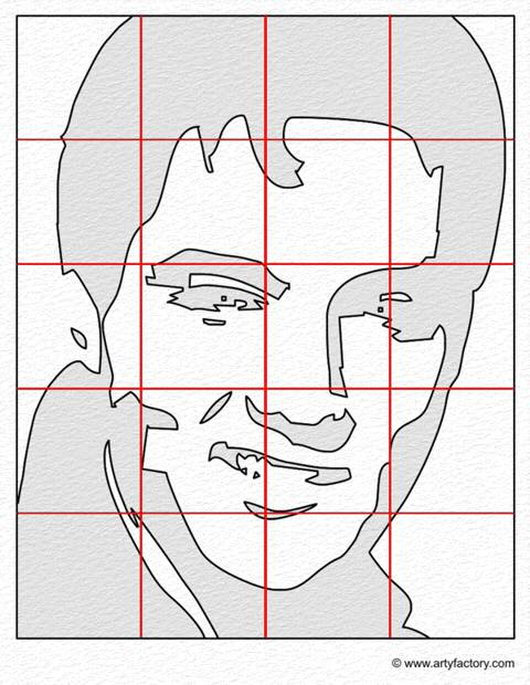 pop art portrait template elvis presley