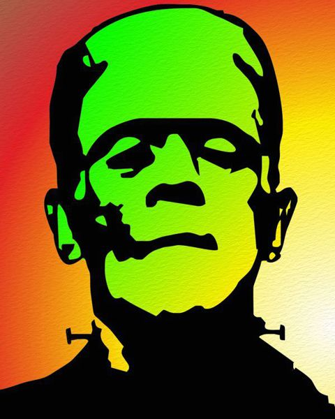 Pop Art Portrait Frankenstein