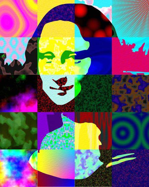 Bien-aimé Pop Art Portrait - Mona Lisa SB42