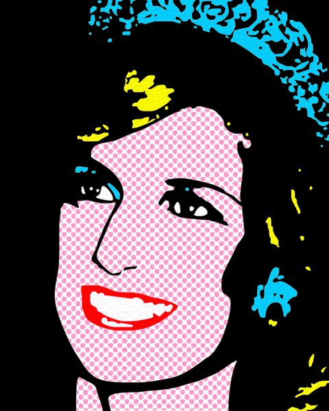 Pop art portrait princess diana for Ben day dots template