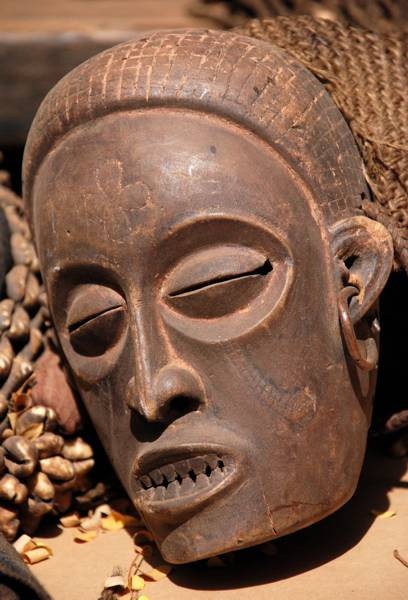 African mask from Ouagadougou, the capital of Burkina Faso.