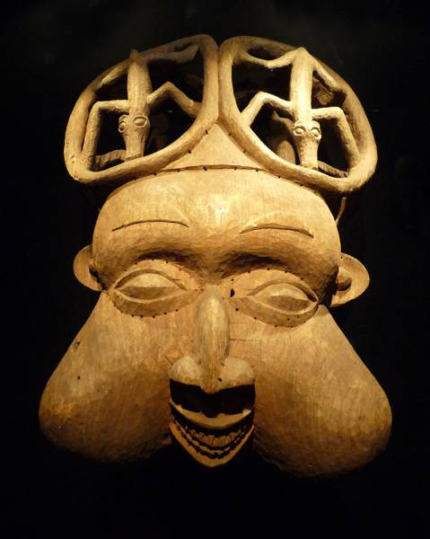 A Banyangi mask from the Cameroon grasslands.