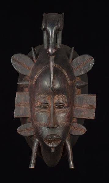 An African mask from Ouagadougou, the capital of Burkina Faso.