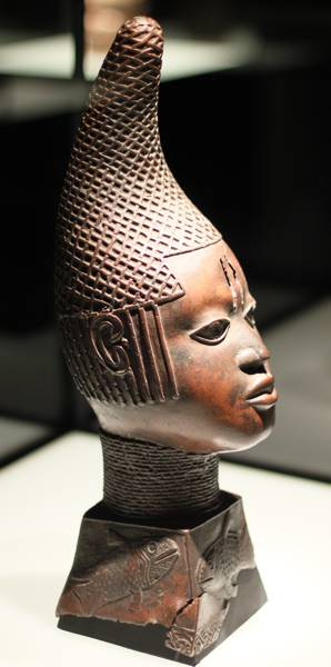 Early 16th century head of a queen mother from the Kingdom of Benin, Nigeria.