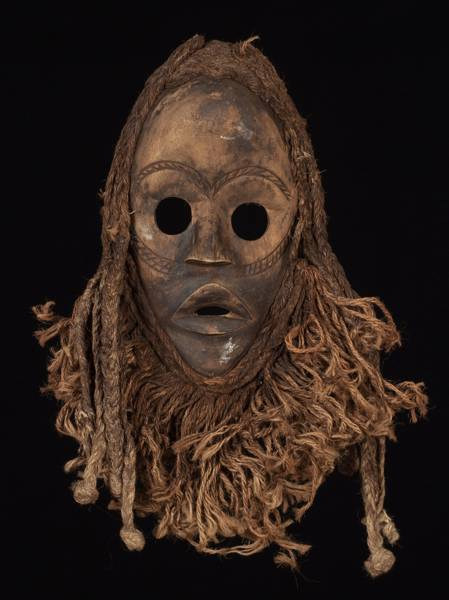A Dan mask from the Ivory Coast and Liberia.