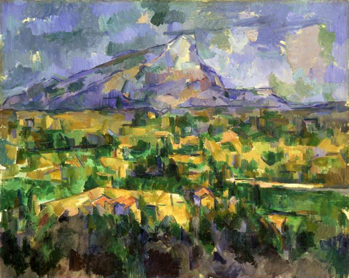 'Mont Sainte Victoire' (1902-04) by Paul Cézanne.