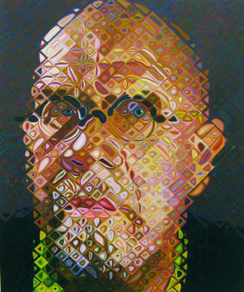 'Self Portrait III' (2003) by Chuck Close.