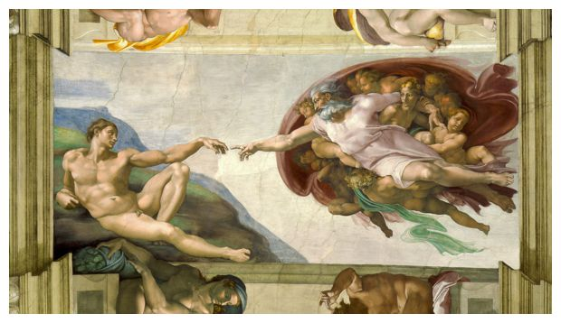 'The Creation of Adam', (1513) by Michelangelo Buonarroti.