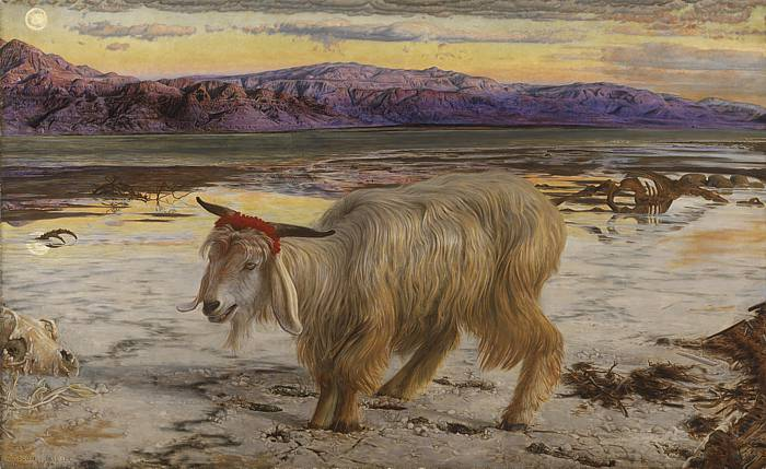 'The Scapegoat', (1854-56) by William Holman Hunt.