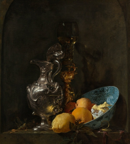 'Still Life with Silver Jug' (c.1656) by Willem Kalf.