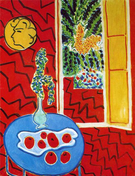 'Red Interior: Still Life on a Blue Table' (1947) by Henri Matisse.