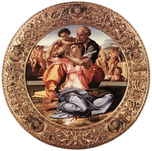 'The Holy Family' (Doni Tondo) (1560) by Michelangelo.