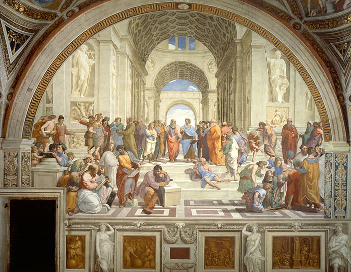 'The School of Athens' (1509-11) by Raphael.