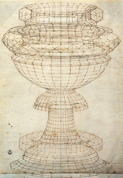'Perspective Study of a Chalice' (c.1450) by Paulo Uccello.