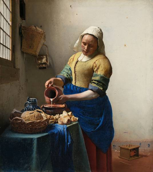 'The Milkmaid' (c.1660) by Johannes Vermeer.