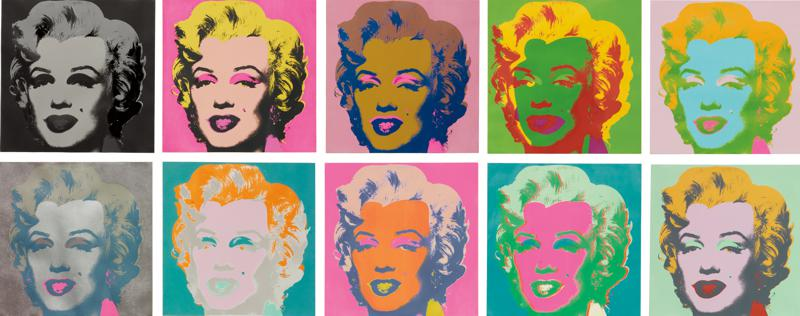 '10 Marilyns', screenprint (1967) by Andy Warhol