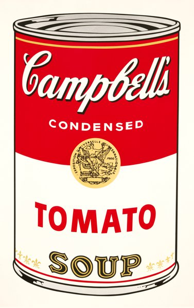 'Tomato Soup' (1962) by Andy Warhol.