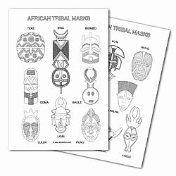 Free African Mask Clip Art