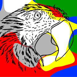How to Paint a Pop Art Parrot