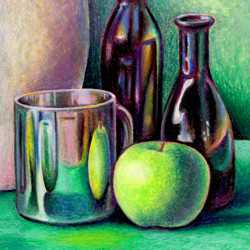 Still Life with Oil Crayons