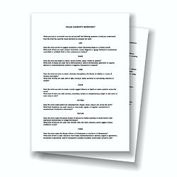 Visual Elements - Worksheets