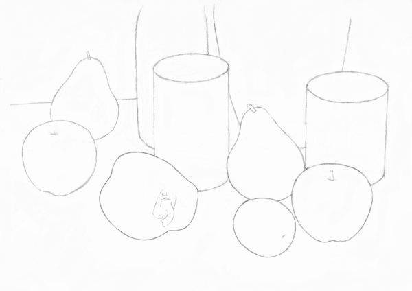 Line Drawings Of D Shapes : Still life techniques pencil drawing