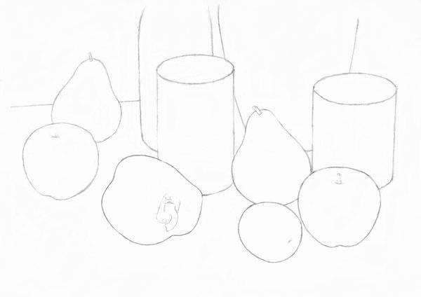 Строим натюрморт - линии построения