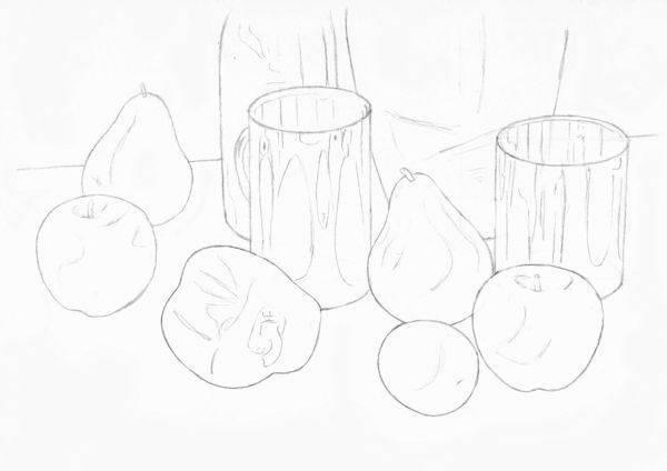 Line Drawing Still Life : Still life techniques pencil drawing
